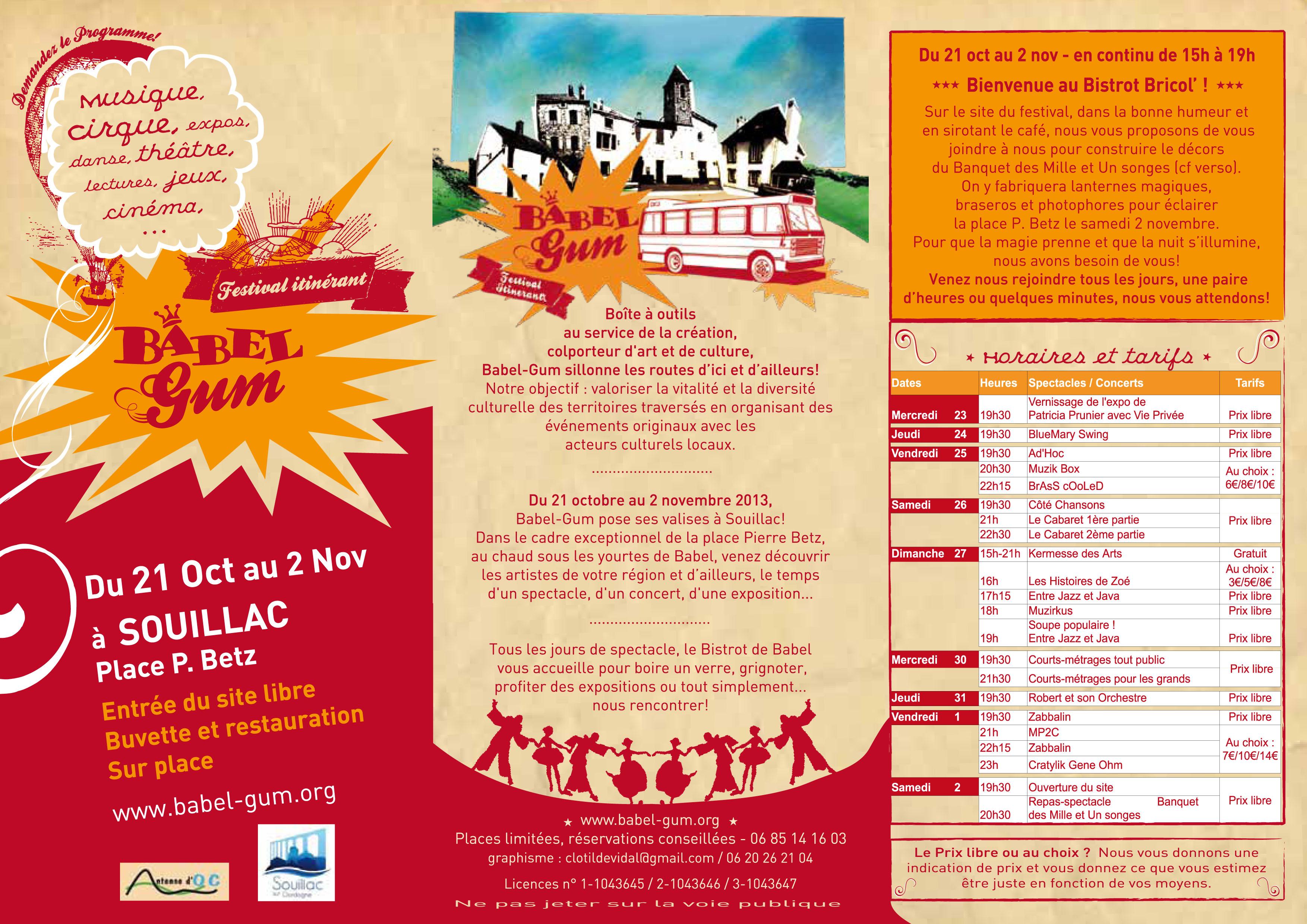 programme ext festival Babel-Gum