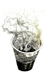 gobelet fumant